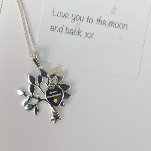 Personalised silver tree of life necklace - FREE ENGRAVING